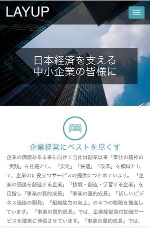 株式会社レイアップのサイトデザイン