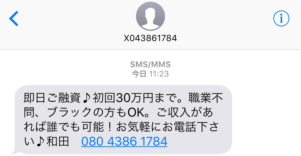 08043861784の和田からのメール画像