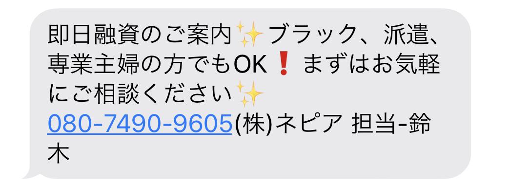 08074909605の(株)ネピアからのメール